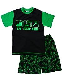 Unbekannt ThePyjamaFactory Jungen Schlafanzug schwarz schwarz Medium Gr. 7-8 Jahre, schwarz