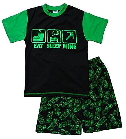 ThePyjamaFactory Jungen Schlafanzug schwarz schwarz Medium Gr. 9-10 Jahre, schwarz
