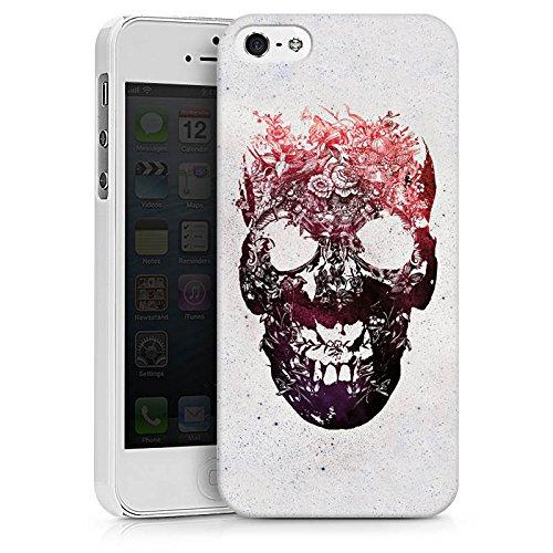 Apple iPhone X Silikon Hülle Case Schutzhülle Totenkopf Skull Schädel Hard Case weiß