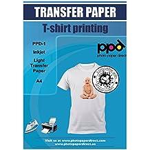 PPD, Inyección de Tinta Papel de Transferencia Para Camisetas de Blancas y Claras A4 X