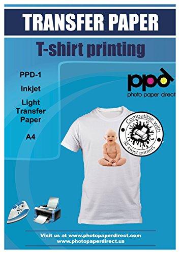 Este papel de transferencia de alta calidad (también conocido como hierro en papel/tela) le permitirá a un bloque de impresión de texto o una imagen directamente en la impresora de inyección de tinta Papel utilizando tu propio a transferirse a cualqu...