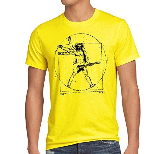 style3 Da Vinci Rock Herren T-Shirt musik festival, Größe:M, Farbe:Gelb