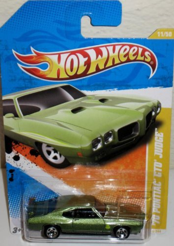 Hot Wheels 2011 New Models Green 1970 Pontiac GTO Judge by Hot Wheels (Hot Gto Wheels)