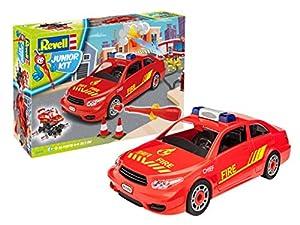 Revell 00810-Junior Kit vehículo de Servicio de Bomberos, el Kit con el Sistema de Tornillos para niños a Partir de 4 años, construye y Juega con Excelentes características