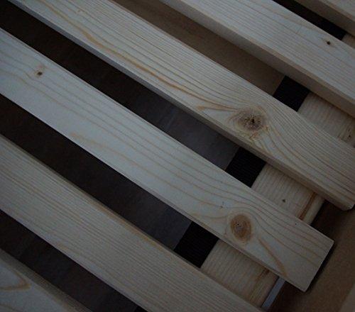 TUGA - Holztech Naturprodukt FSC 28 LEISTEN bis 250Kg in der Größe 180 x 200 cm ROLLROST Lattenrost Qualitätsarbeit aus Deutschland unbehandelt, frei von Chemie (Massivholz Bett-rahmen)