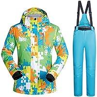 Jiuyizhe Conjunto Impermeable de Chaquetas Impermeables Mountain Mountain Chaqueta de esquí para Hombres (Color : 02, Size : XXL)
