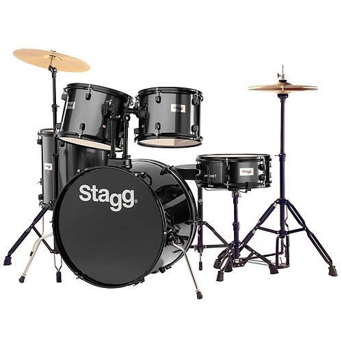 stagg-25020587-tim122b-drum-set-5588-cm-22-zoll-5-stuck-inkl-hardware-mit-cymbal-throne-schwarz
