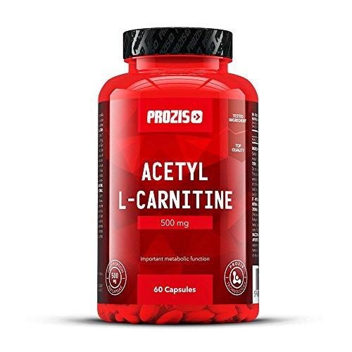 Prozis 100% acetyl l-carnitine capsules 500mg - integratore di aminoacidi di alta qualità per perdita di peso, aumento della concentrazione e dell'energia - 60 capsules !
