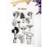 ECMQS Mushroom DIY Transparente Briefmarke, Silikon Stempel Set, Clear Stamps, Schneiden Schablonen,...