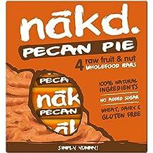 Nakd Barres Tarte Noix de Pécan - Véganes, Crues, sans Gluten, sans Lactose   4 Barres énergétiques sport   Nakd