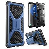 i-Blason Galaxy S8+ Plus Hülle Prime Serie - 2-Schicht Schutzhülle/Tasche / Gehäuse/Zubehör mit Standhalter, schwenkbaren Gürtelschnalle mit Locking-Mechanismus (2017 Release) (Blau)