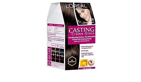 L Oreal Paris Loreal Casting Creme Gloss Hair Color Dark Brown 400