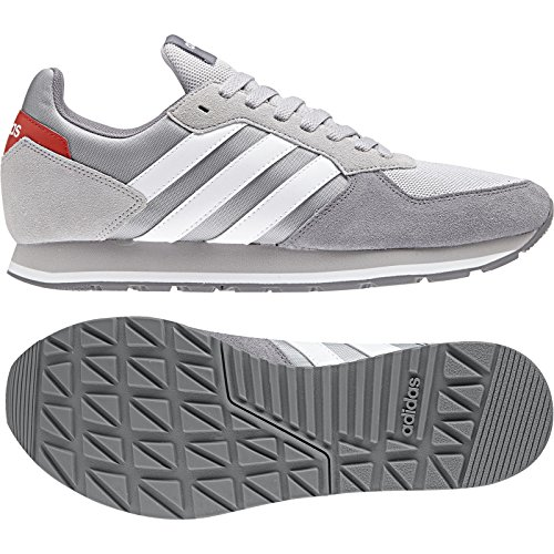 adidas 8k, Chaussures de Gymnastique Homme Gris (Grey Two F17/ftwr White/grey Three F17)
