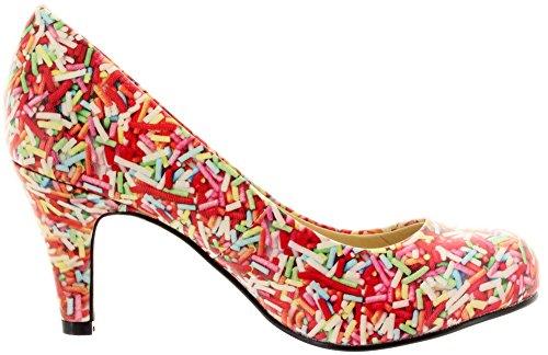 T.U.K., Scarpe col tacco donna Multicolore (Multicolore)