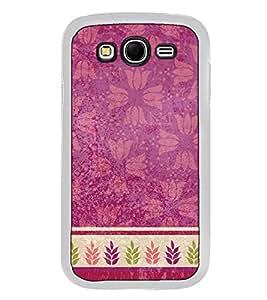 Fuson Designer Back Case Cover for Samsung Galaxy Grand Neo Plus I9060I :: Samsung Galaxy Grand Neo+ (Flowery lotus design wallpaper frame leaf)