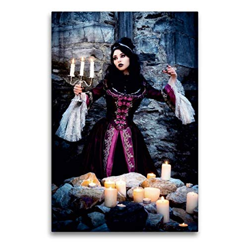 Märchen Kostüm Fabeln Und - Calvendo Premium Textil-Leinwand 60 cm x 90 cm hoch, Gothic | Wandbild, Bild auf Keilrahmen, Fertigbild auf echter Leinwand, Leinwanddruck: Jessie D. Luna Menschen Menschen