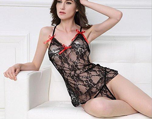 CWJ Europa und die Vereinigten Staaten Sexy Dessous Spitze Nackt Versuchung Anzug Perspektive Sexy Schmetterling Rock Weiblich,Schwarz,Alle Code