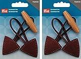 Prym Dufflecoat-Knebelverschlussknopf, Braunes Leder,2er-Pack