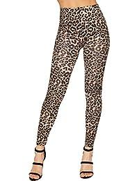 WearAll - Mujer Leggings Estampado Animal Leopardo Tallas 36-42