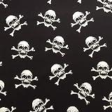 Schwarz/Weiß Halloween gekreuzten Knochen Totenkopf Design