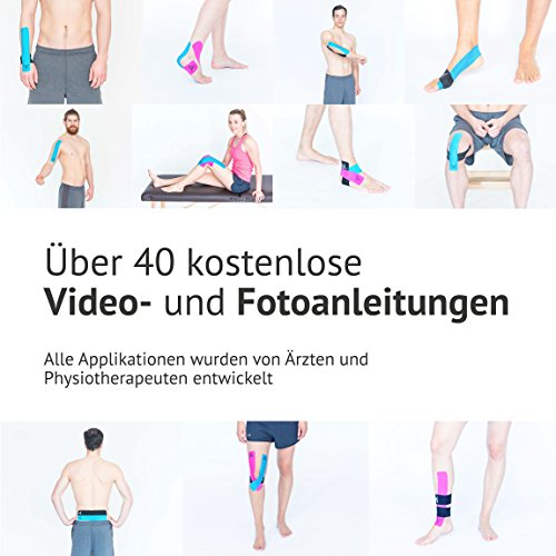 TRUETAPE ATHLETE EDITION | vorgeschnittenes Kinesiologie Tape | True Lime | Physio-Tape | Kinesiotapes | 20 vorgeschnittene Streifen | CE Zertifiziert | Farbauswahl | Aufbewahrungsbox | 40 Anleitungen - 5