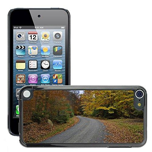Hülle Case Schutzhülle Cover Premium Case // M00155096 Fall-Herbst-Land-Straße Hintergrund // Apple ipod Touch 5 5G 5th 6 6G 6th