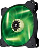 Corsair SP140 LED Ventilador de PC (140 mm, iluminación LED Verde) Paquete Soltero
