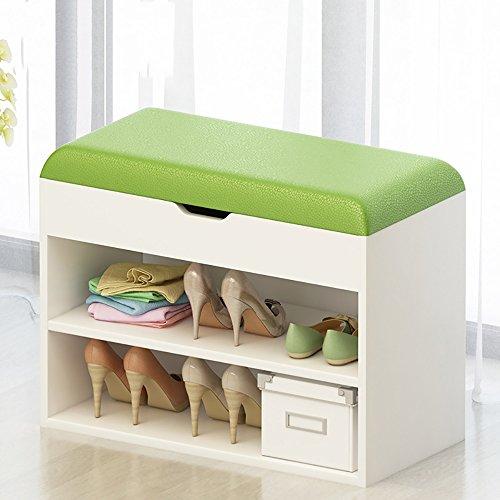 LJHA Tabouret pliable Repose-pieds de bois solide / tabouret de chaussure de porte de tissu / armoire de chaussure / stockage tabouret / support de chaussure (7 couleurs facultatives) chaise patchwork ( Couleur : G , taille : 60 cm )