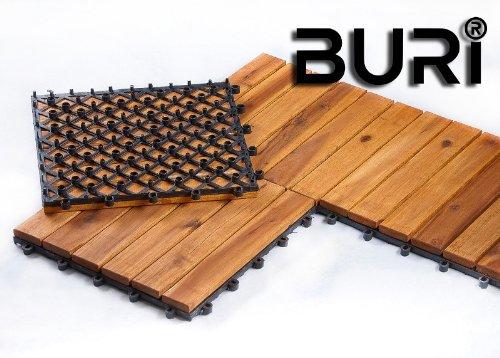 Bild zu Holzfliesen Terrassenfliesen 1 qm = 11 Stück