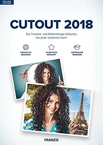 FRANZIS CutOut 2018|7.|Für bis zu 3 Geräte|-|Freistellsoftware für Windows PC und Mac OS X|Disc|Disc