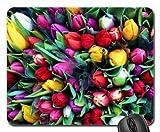 Teppich der bunten Tulpen Mauspad, Mousepad (Blumen Mauspad)