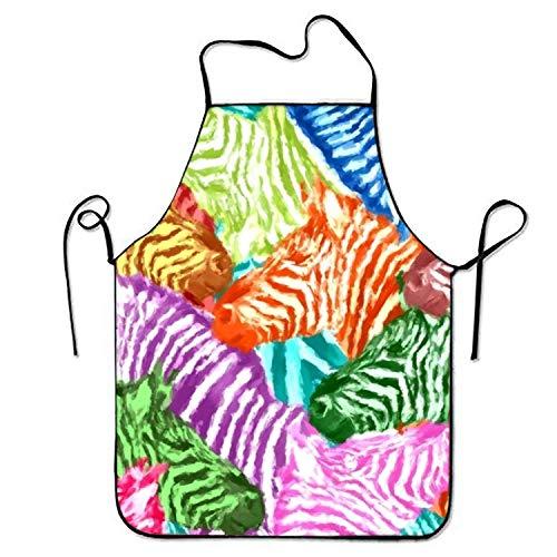 tgyew 2019 Apron Colorful Zebra Aprons Printed Apron for Server Women Crafting Wild One Black Zebra