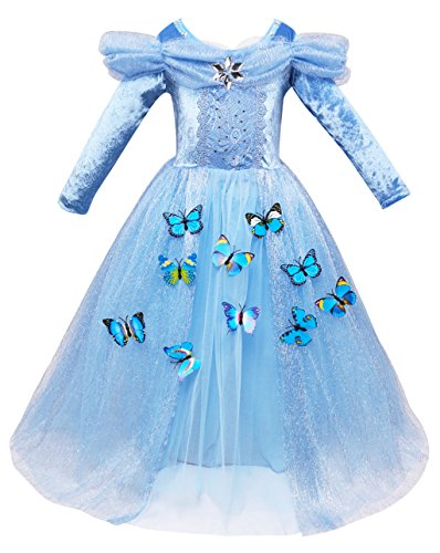 VEVESMUNDO Cinderella Aschenputtel Prinzessin Faschingskostüme Halloween Partei Party -