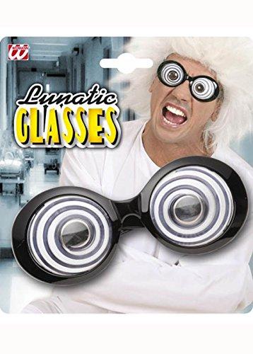 schaftler-Stil Lunatic Swirl Gläser (Wissenschaftler Fancy Dress)