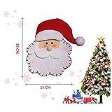HENGSONG 4 Stücke Weihnachtsmann Weihnachten Deko Bestecktasche Besteckbeutel Besteckhalter für Weihnachten - 6