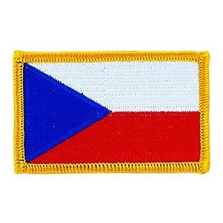 Patch Aufnäher bestickt Flagge Flag Republik tschechischen Abzeichen Wappen