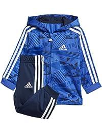 adidas Kinder Shiny Jogginganzug mit Kapuze Trainingsanzug