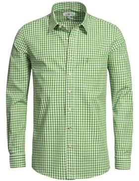Trachtenhemd Michael Slimline in Apfelgrün von Almsach