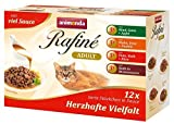Animonda Rafine Adult Katzenfutter Herzhafte Vielfalt in Sauce, 4 x 12er Mix-Pack (48 x 100 g)