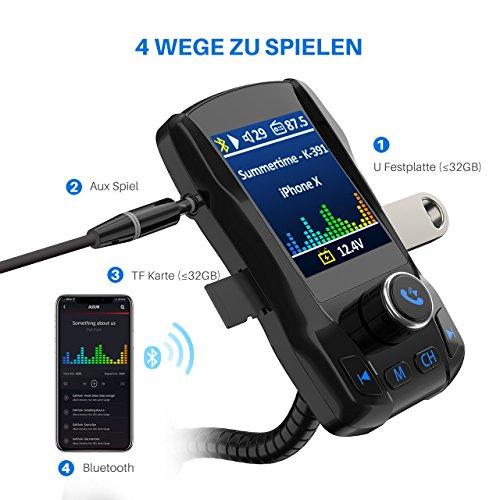 omorc-fm-transmitter-bluetooth-kfz-wireless-radio-adapter-fm-transmitter-auto-bluetooth-mit-1-8-grosser-tft-farbbildschirm-in-360-grad-3-usb-ports-5-eq-modi-tf-karte-slot-aux-eingang-fuer-iphon
