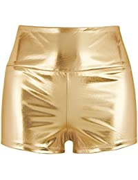 MSemis Pantalones Cortos para Mujer Wetlook Mini Pantalones Cadera Push Up  Cintura Alto Picante Pants Clubwear 3e4ffebe851b