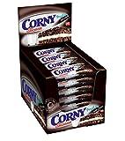 CORNY Milch Dark & White DER GROSSE, Milchsandwich, 24er Pack (24 x 40g Riegel)