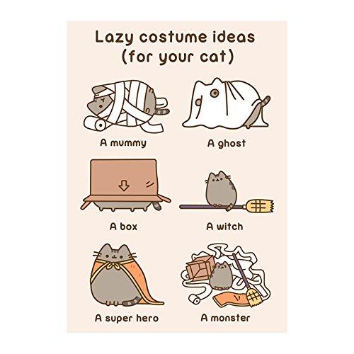Pusheen the Cat ~ Lazy Kostüm Ideen (für Ihre Katze) ~ blanko alle Anlass Karten (Ideen Für Kostüme)