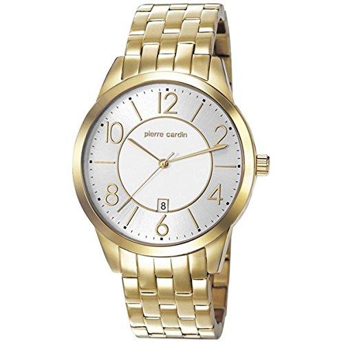 Pierre Cardin hombre 42 mm oro pulsera de acero inoxidable & vivienda FECHA reloj pc106921f07