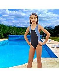 STANTEKS Mädchen Badeanzug Dunkelblau / Blau Größe:158