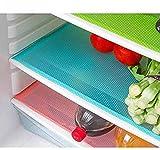#7: E-Retailer Plastic Fridge Mat Refrigerator Drawer Mat/Fridge Mat/Place Mat Set of 3 Pcs (13*19 inches) Multi Purpose Use(Multi, Free)