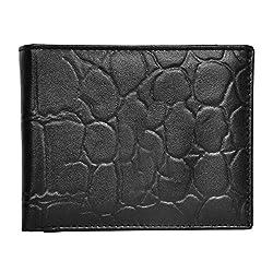 Chandair Pure Leather Black Mens Wallet (W-7007)