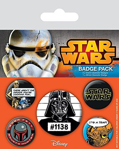 Star Wars - Cult Pin Badge Pack (5 Pins) (Bp80453)