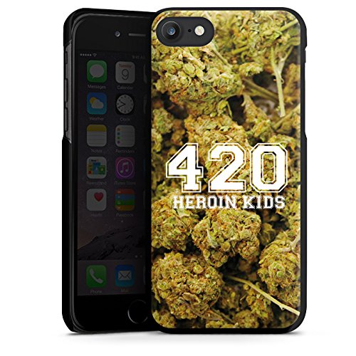 Apple iPhone X Silikon Hülle Case Schutzhülle 420 Weed College Hard Case schwarz