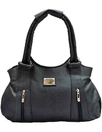 Angel & Rayon Lyla Fancy Stylish Handbag For Women Ladies And Girls (Black)